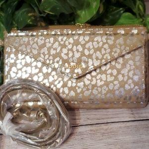 NWOT LODIS Metallic Leopard Crossbody/Wallet